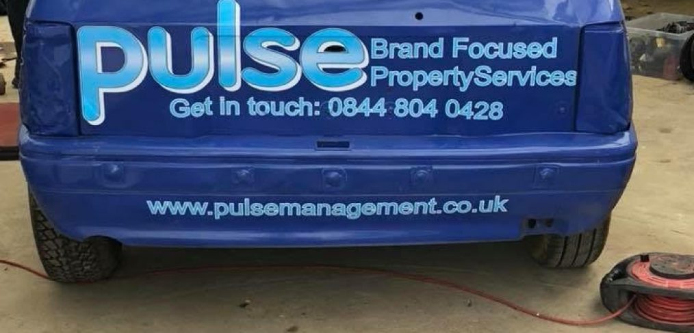 Pulse Sponsored Racing Car